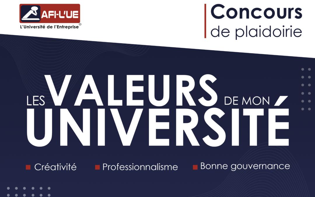 """Appel à participation – Concours de plaidoirie """"Les valeurs de mon université"""""""